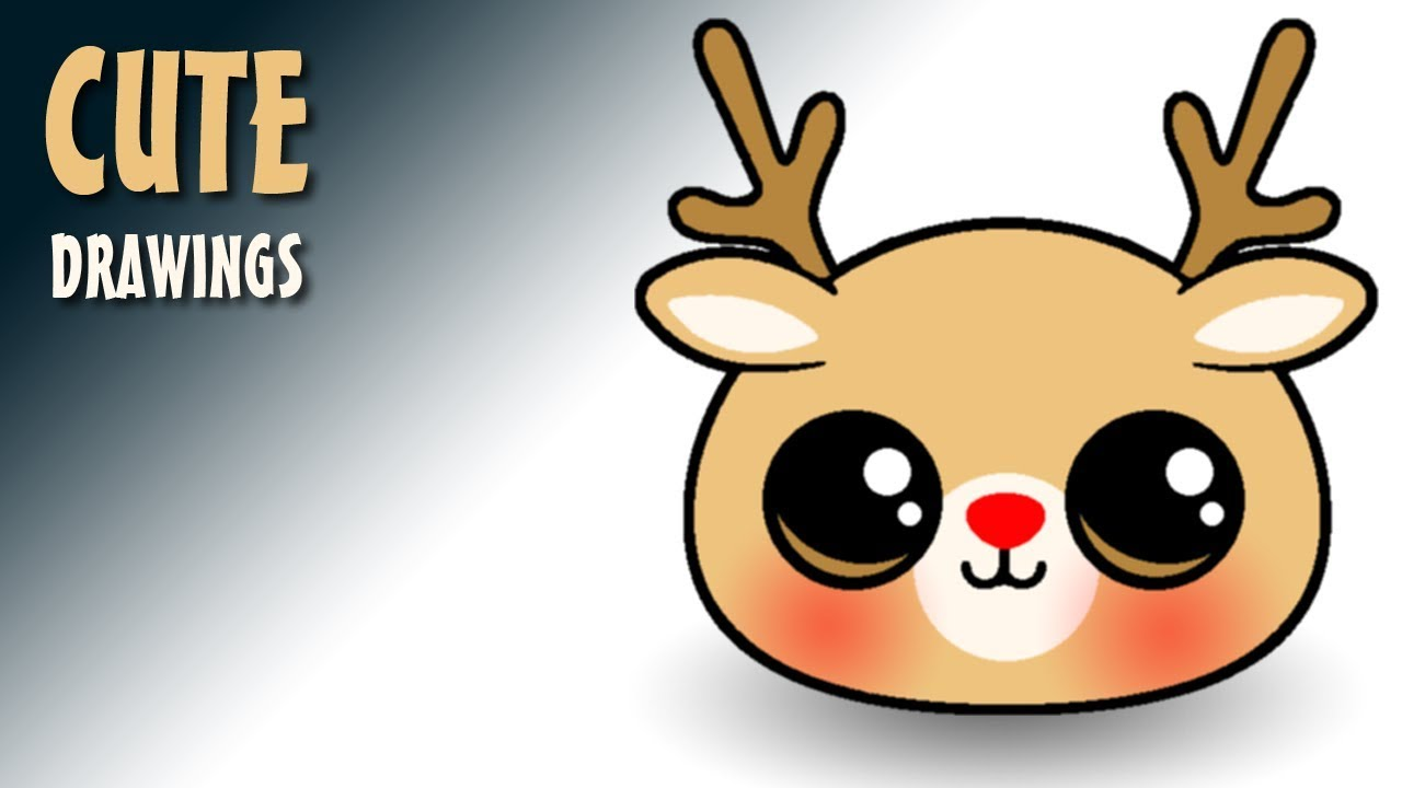 1280x720 How To Draw A Reindeer Face So Cute