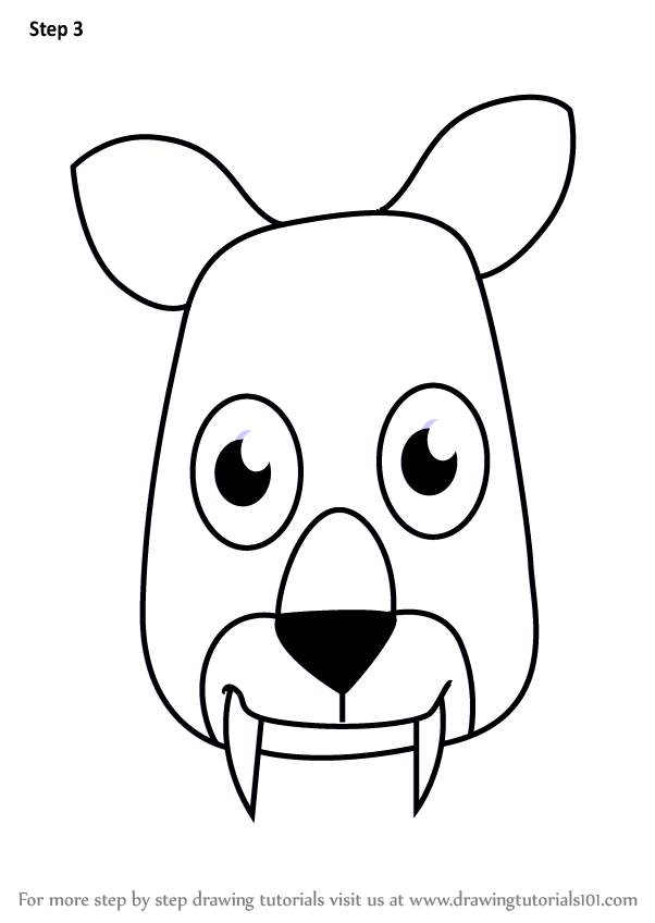 602x848 Learn How To Draw A Tufted Deer Face For Kids