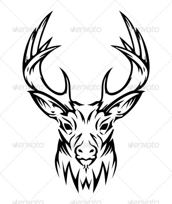590x700 Tribal Elk Head Drawings Images About Art Tribal
