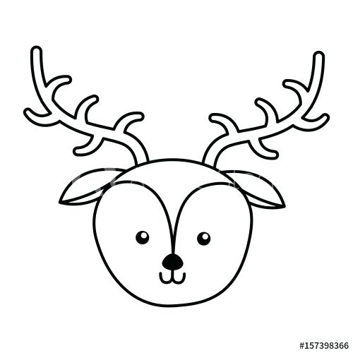 500x500 Deer Face Drawing