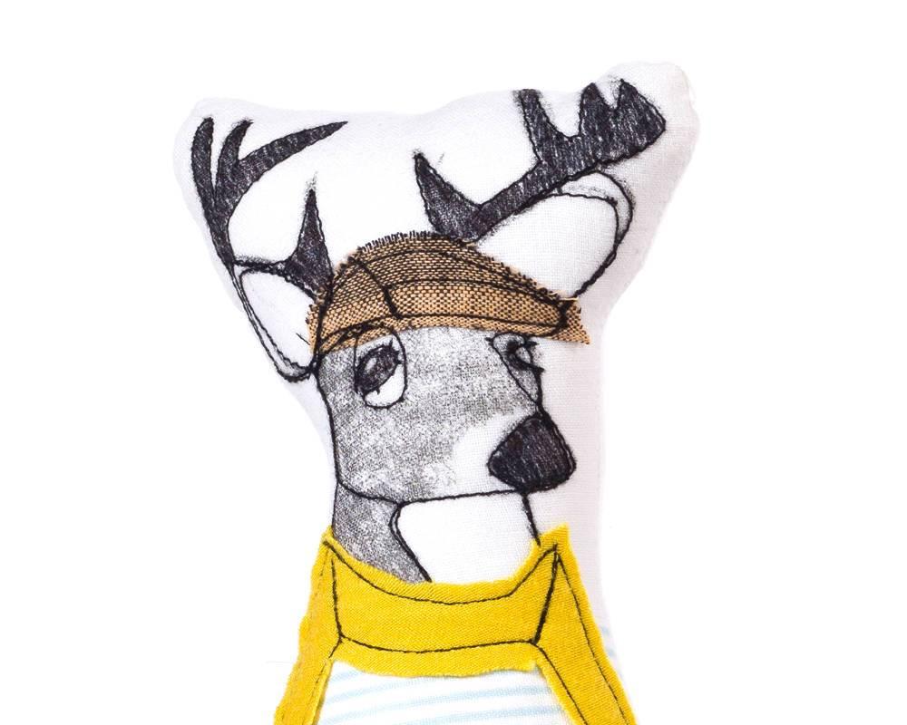 1000x800 deer doll soft sculpture doll hipster animal deer family