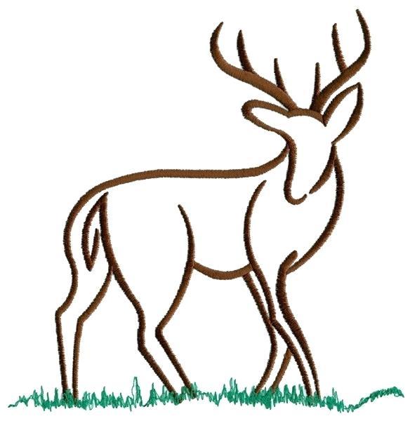 584x600 Deer Outline Easy Drawings Of Deer