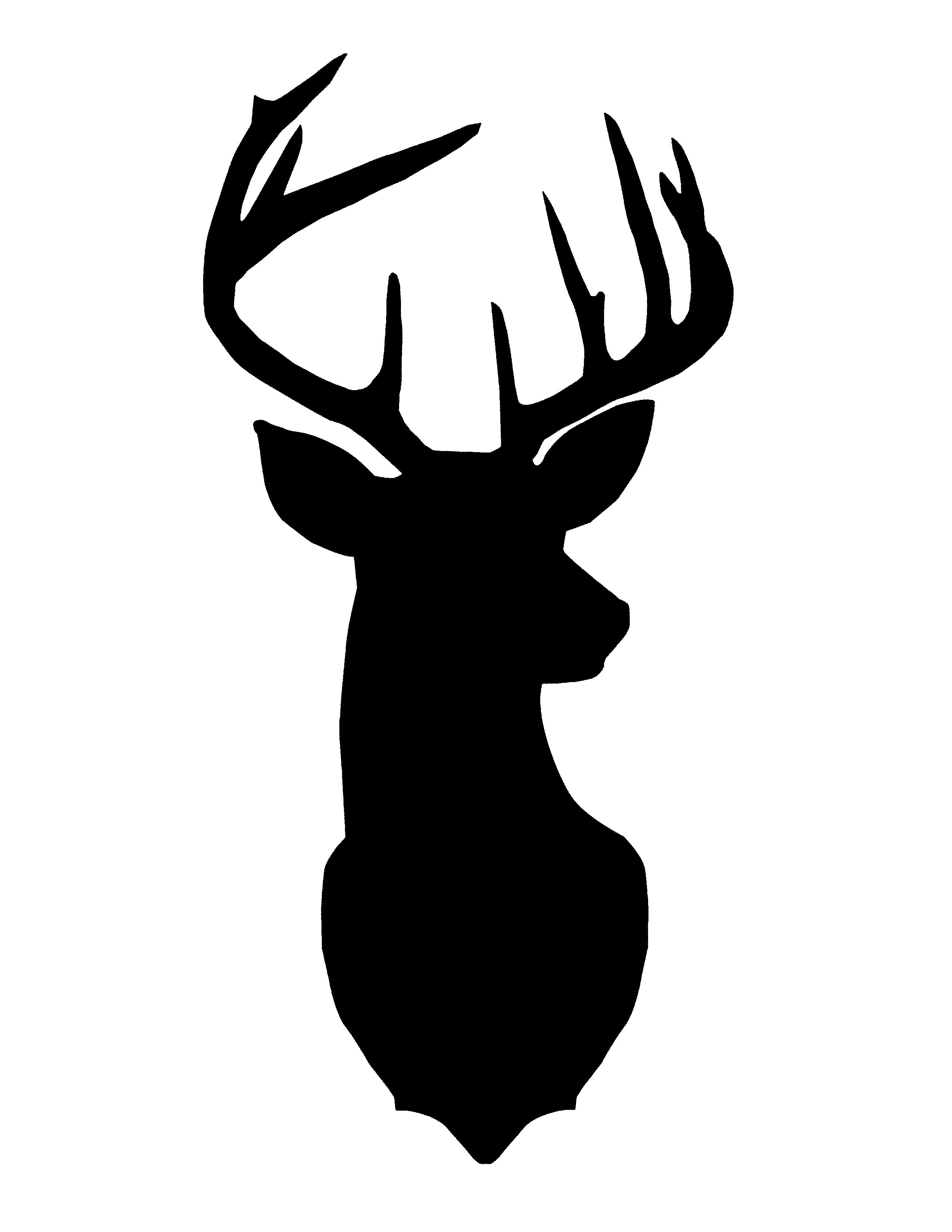 2550x3300 Deer Silhouette Art Christmas Craft And Gift Ideas Deer Head