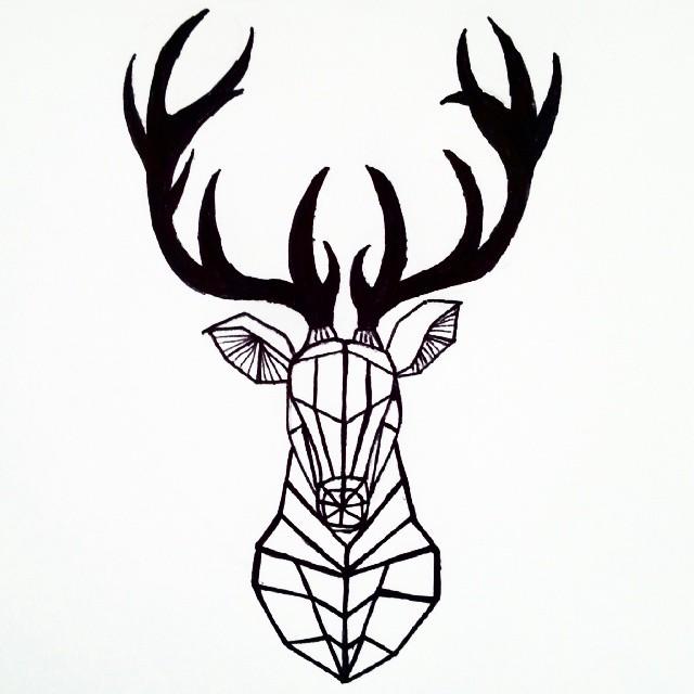 640x640 Easy Deer Head Drawing At Com Free For Personal Us On Deer Antler