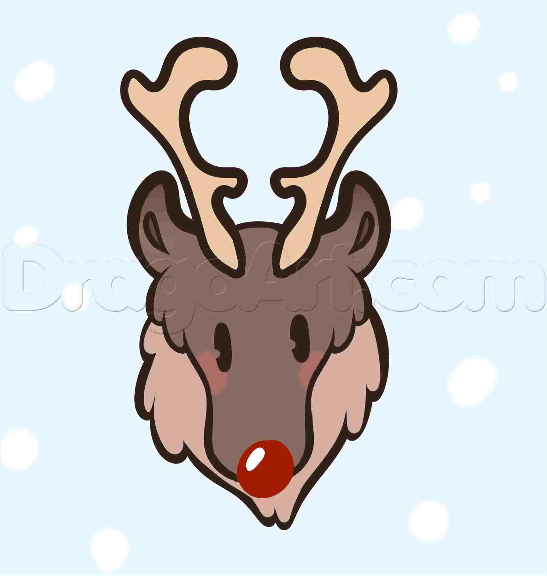 1899x2001 Easy To Draw Deer Head