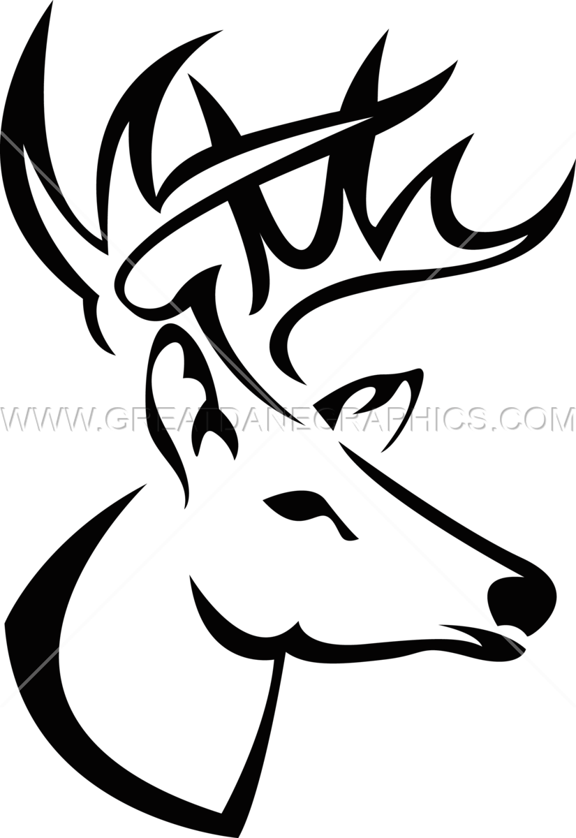 825x1200 How To Draw A Buck Head Step