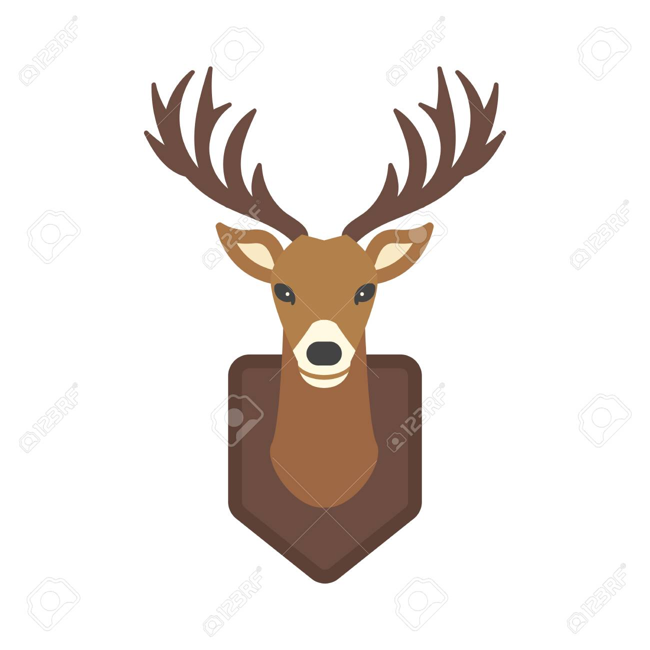 1300x1300 Huge Collection Of 'reindeer Head Drawing' Download More Than