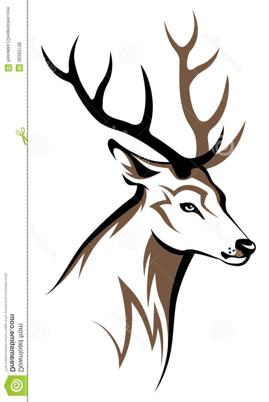 870x1300 Top Tribal Deer Skull Decals Vector Pictures Free Vector Art