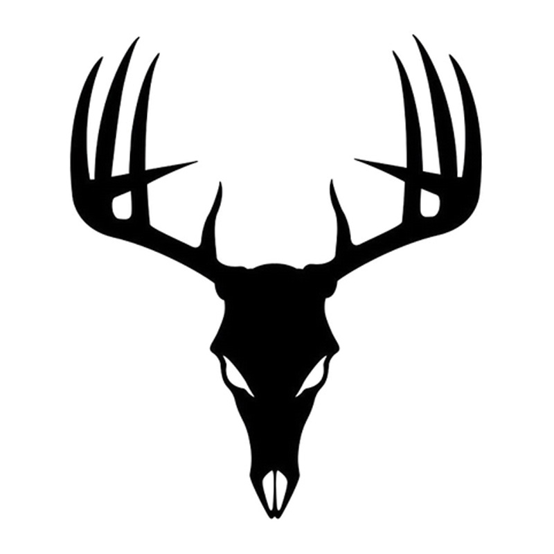 800x800 deer skull silhouette deer skull silhouette