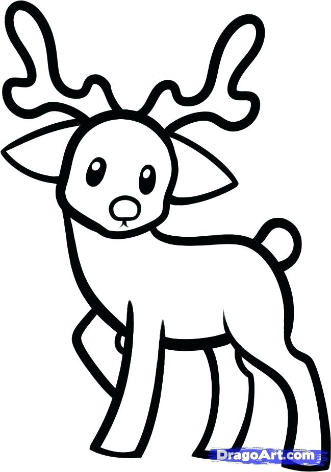 649x923 Easy To Draw Deer