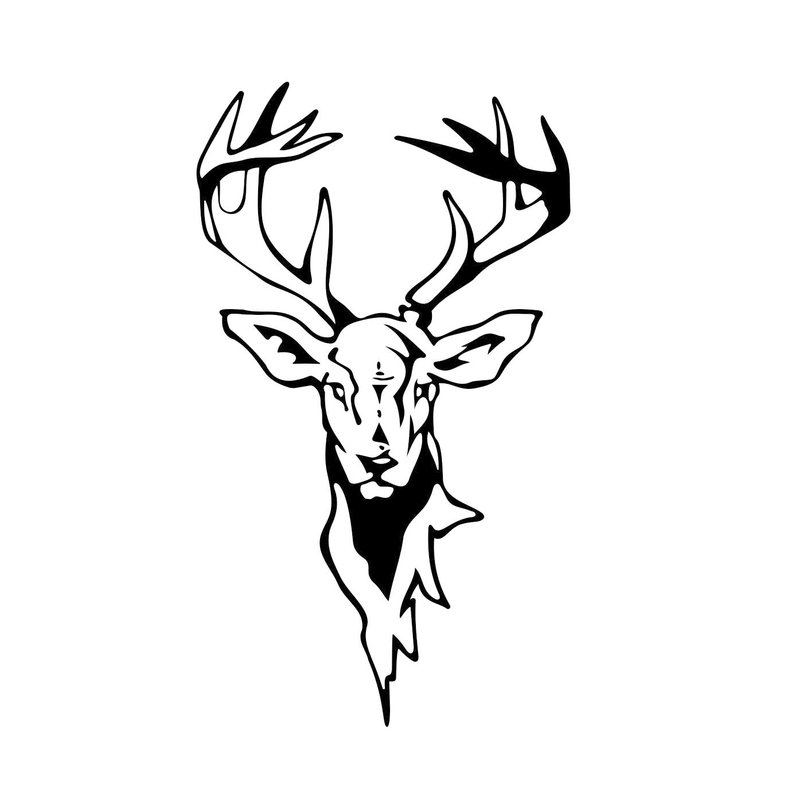 794x794 Deer Head Graphics Dxf Png Cdr Pdf Vector Art Etsy