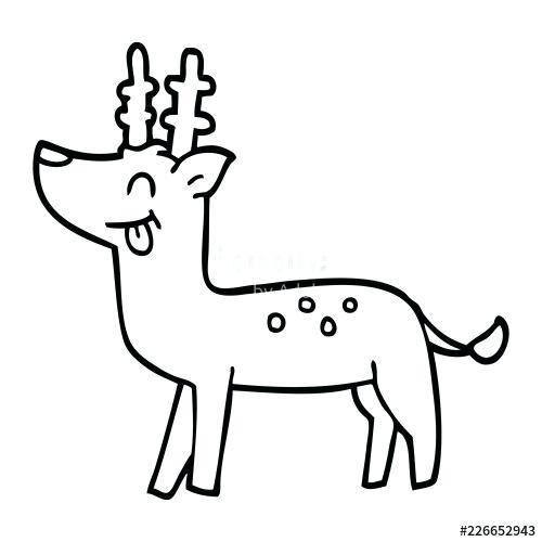 500x500 deer line drawing simple line art deer stock vector baby deer line