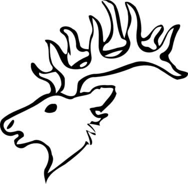 376x368 Deer Head Drawing Free Vector Download