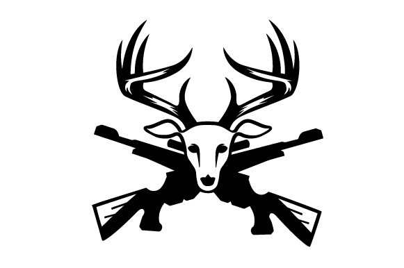 581x386 Deer Head Front With Rifles