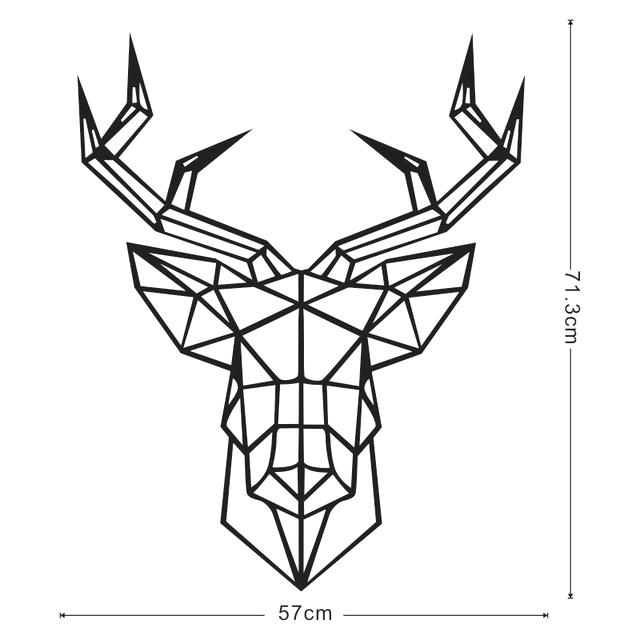 640x640 Geometric Deer Head