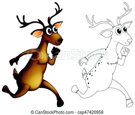 450x383 Deer Outline A Deer Outline Deer Outline Images