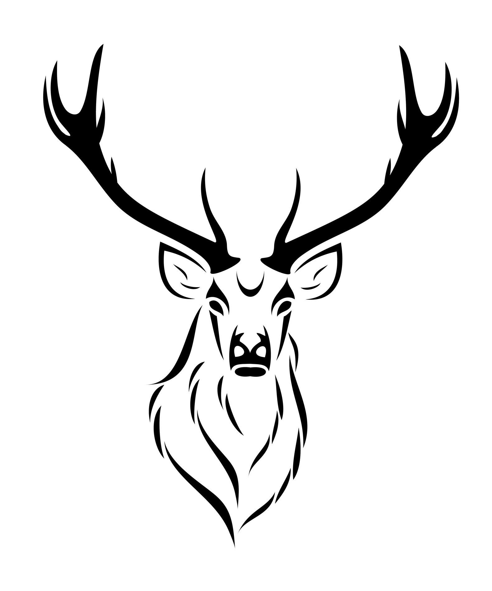 1581x1897 Inspirational Black Deer Head Tattoo Stencil Tribal Tatoo Tribal