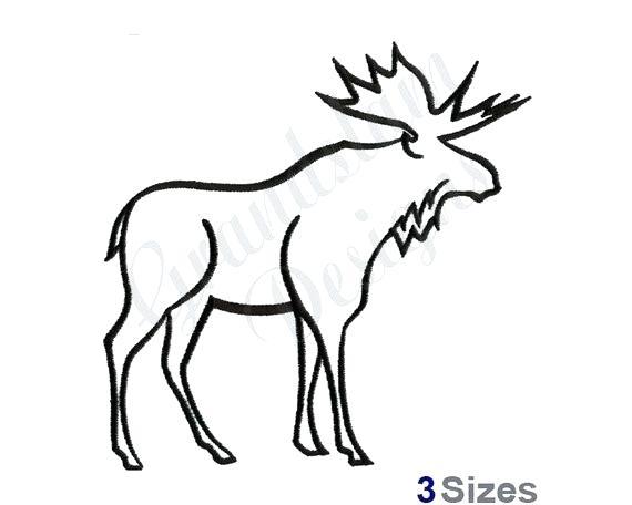 570x456 Moose Head Outline Moose Head Vector Cartoon Vector
