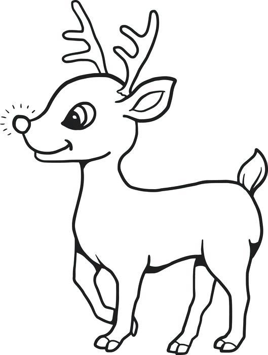529x700 Reindeer Outline Outline Reindeer Head Animal Stock Vector