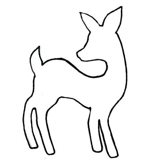 549x551 simple deer drawing simple deer head outline simple deer head