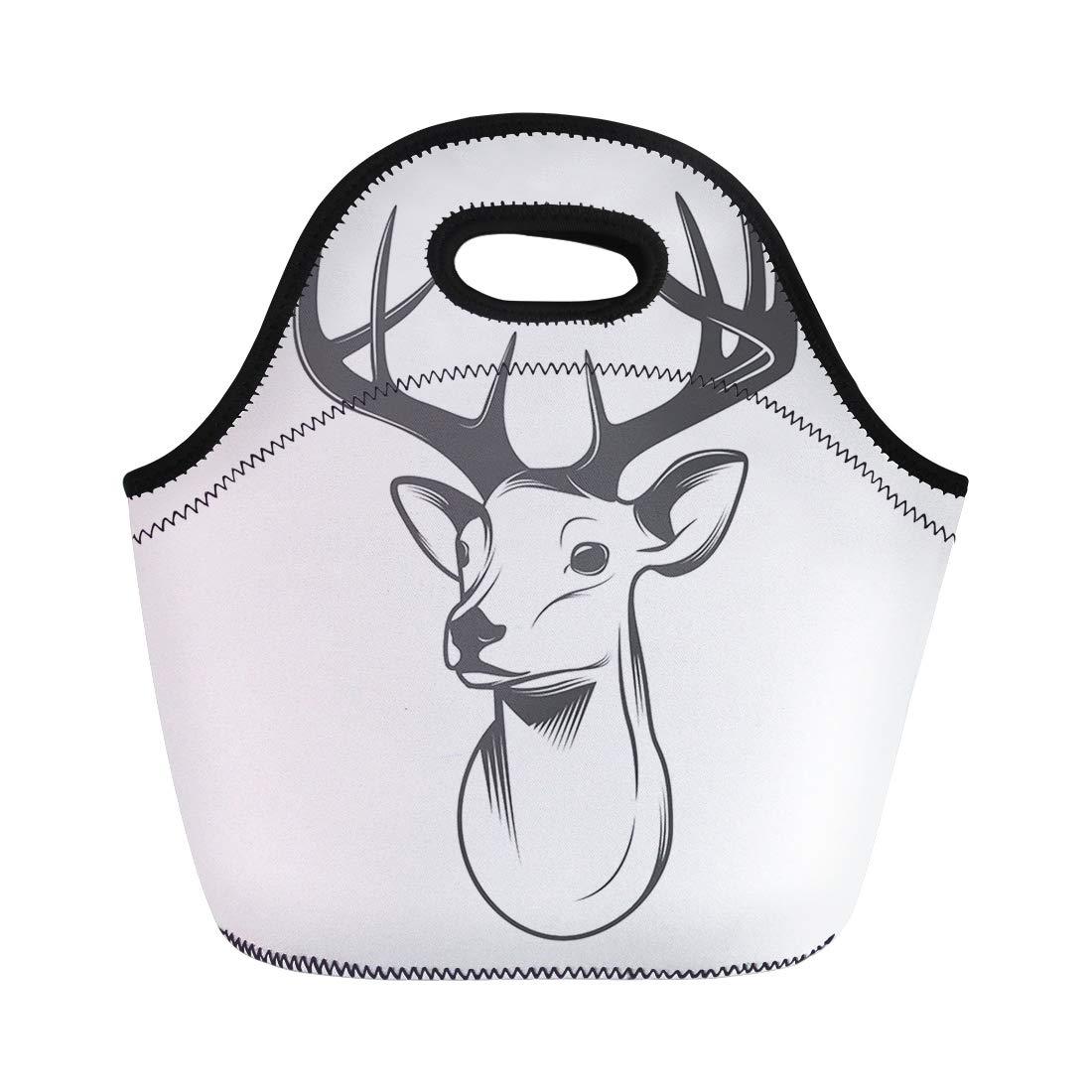 1100x1100 Semtomn Lunch Tote Bag Reindeer Deer Head Silhouette