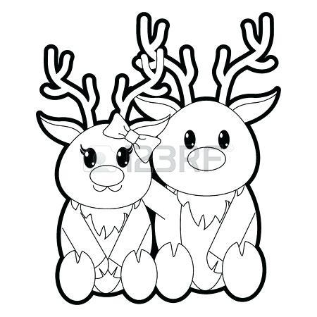 450x450 Reindeer Outline