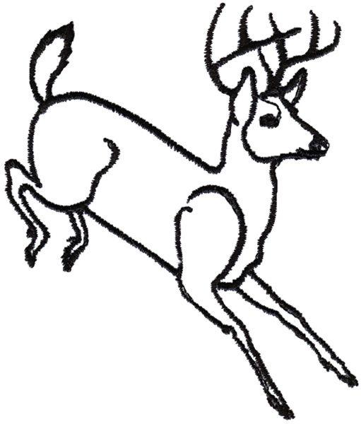 511x600 image result for running buck deer line drawing deer buck deer