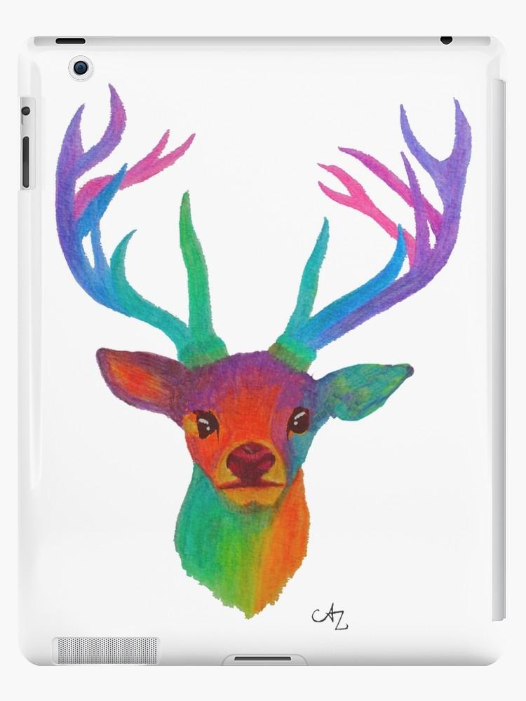 750x1000 Rainbow Deer Ipad Cases Skins