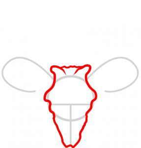 287x302 how to draw a deer skull, deer skull tattoo, step