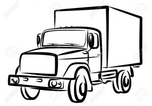 300x210 drawing of truck how to draw a delivery truck pop path