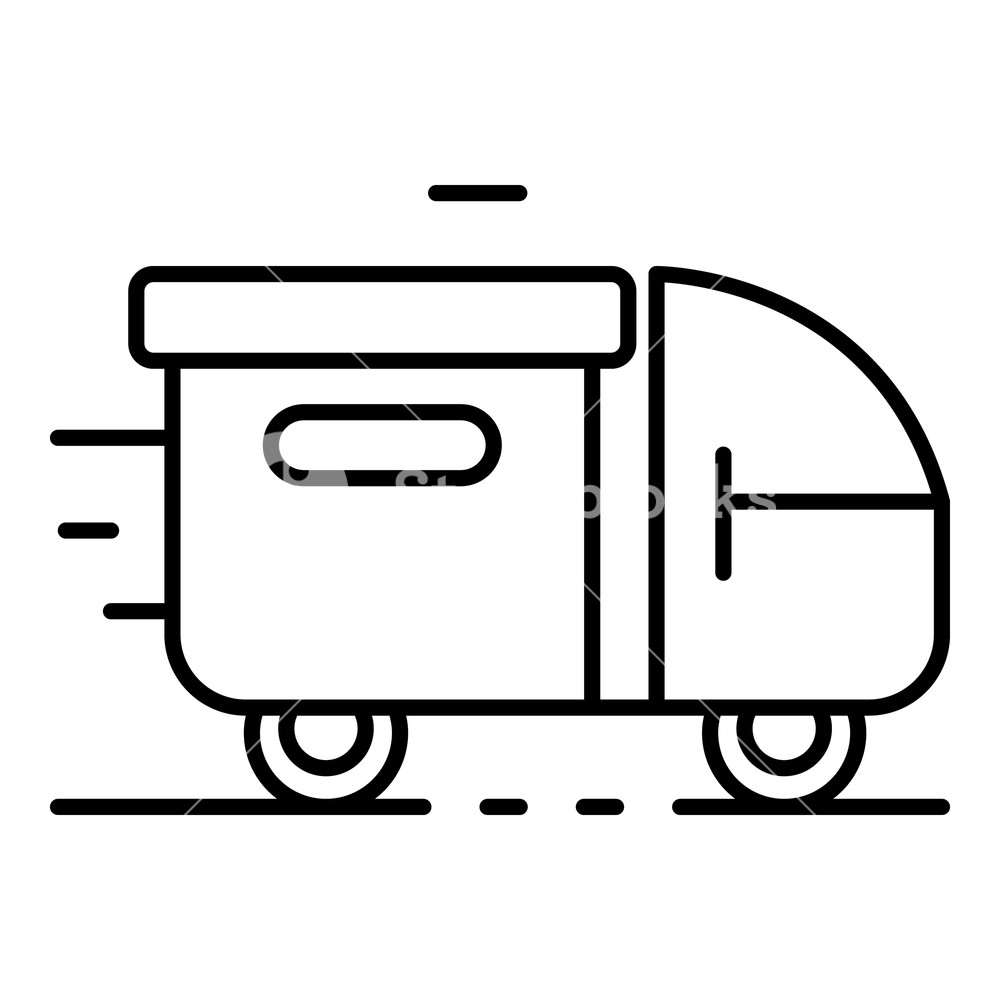 1000x1000 truck parcel delivery icon outline truck parcel delivery vector