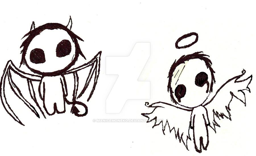 900x549 Chibi Angel And Demon