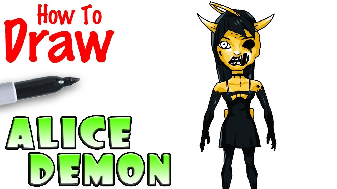 1280x720 How To Draw Alice Angel Demon Bendy