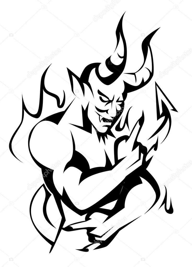 735x1023 Evil Angel Drawing, Demon Drawings, Tattoo