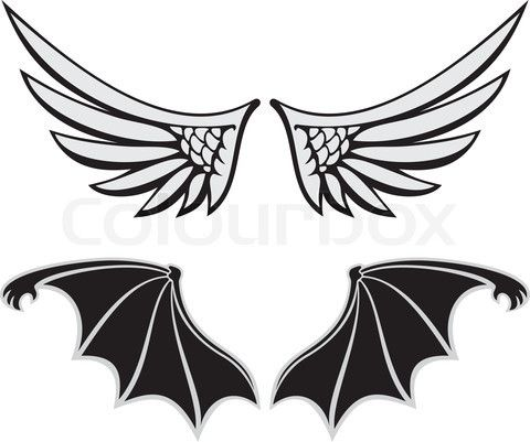 480x401 Vector Of 'symmetric Wing Shaped Design Elements On White
