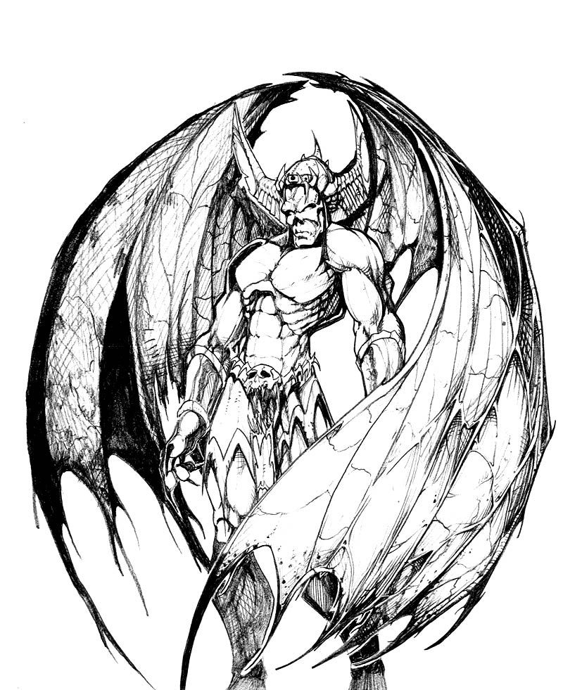 800x981 Heavenly Drawing Angels And Demon For Free Download