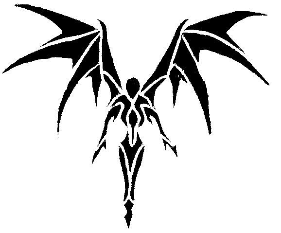 578x479 Tribal Angel Demon Tattoos Ideas And Designs