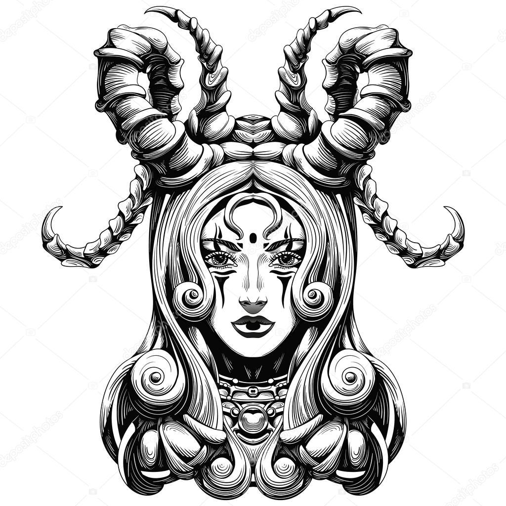 Demon Girl Drawing