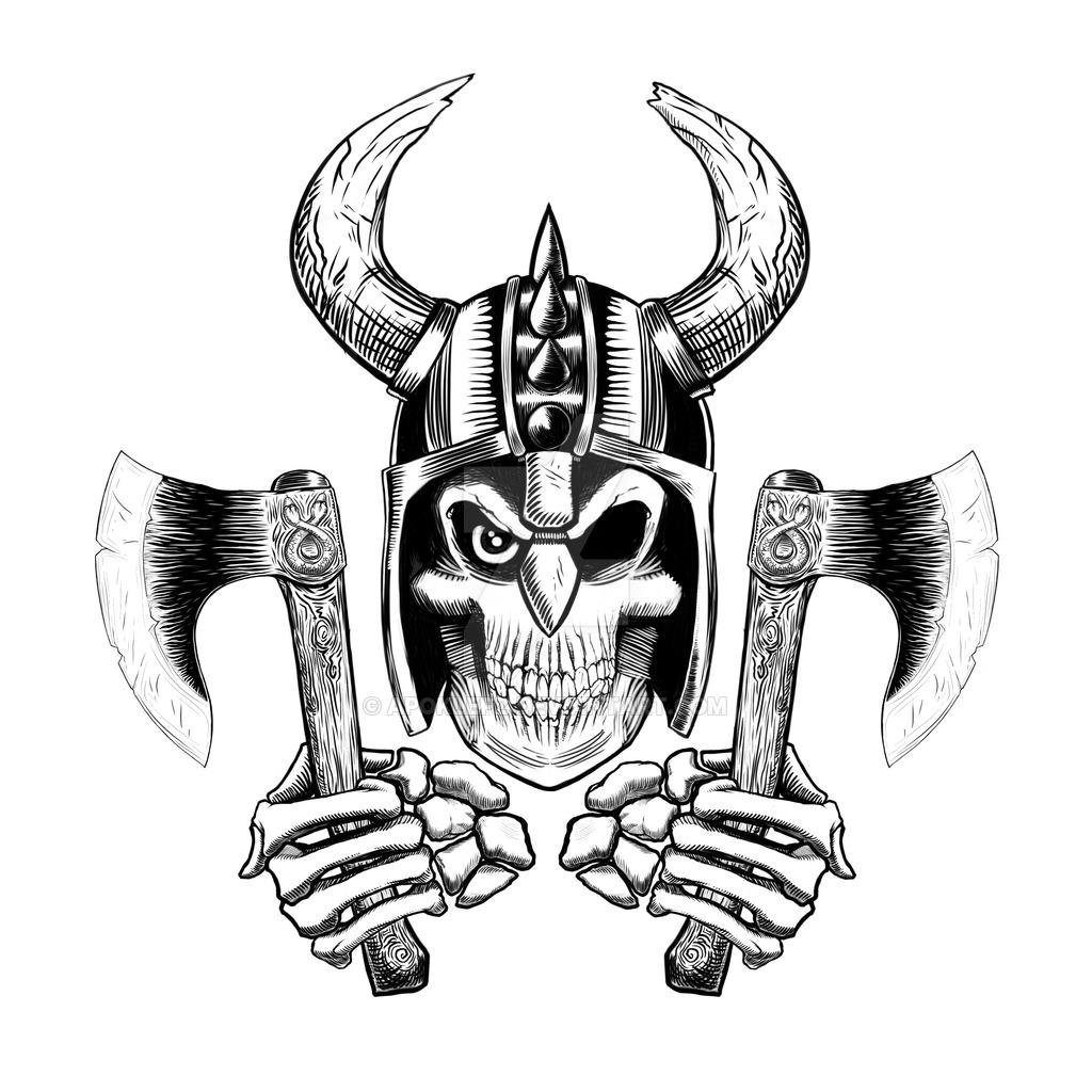 Demon Skull Drawing