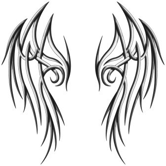 336x336 Angel Wings Line Art Drawing And Devil Tattoo Ideas Png