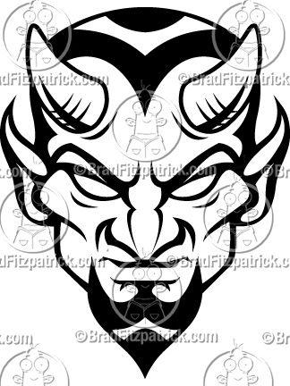324x432 Blue Devils Mascot Logo In Art Devil Tattoo, Drawings