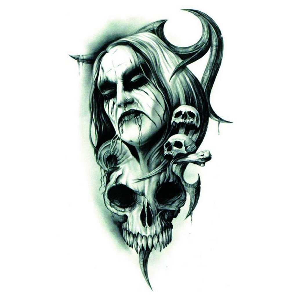 1024x1024 Demon Skull Tattoos Images In Collection