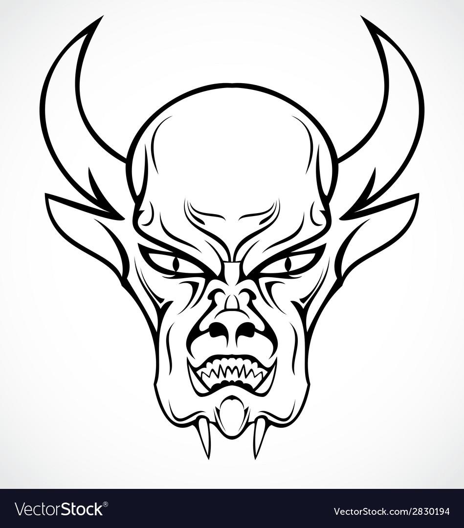 949x1080 Devil Face Tattoo