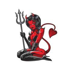 236x236 Drawing Devil Girl Best Devil Girl Tattoo Images Drawings Devil
