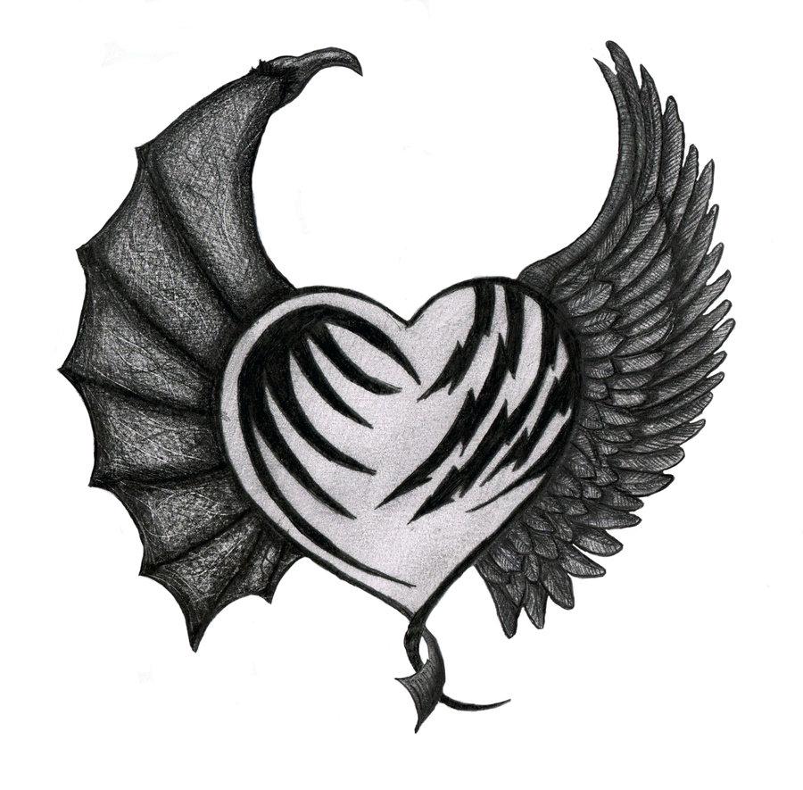 900x885 Linda Toos Chapter Tattoo Angel Devil Designs