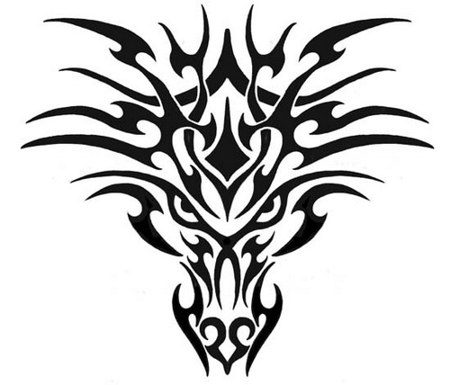 500x428 Tribal Demon Skeleton Tattoo Stencil Tattoo Ideas