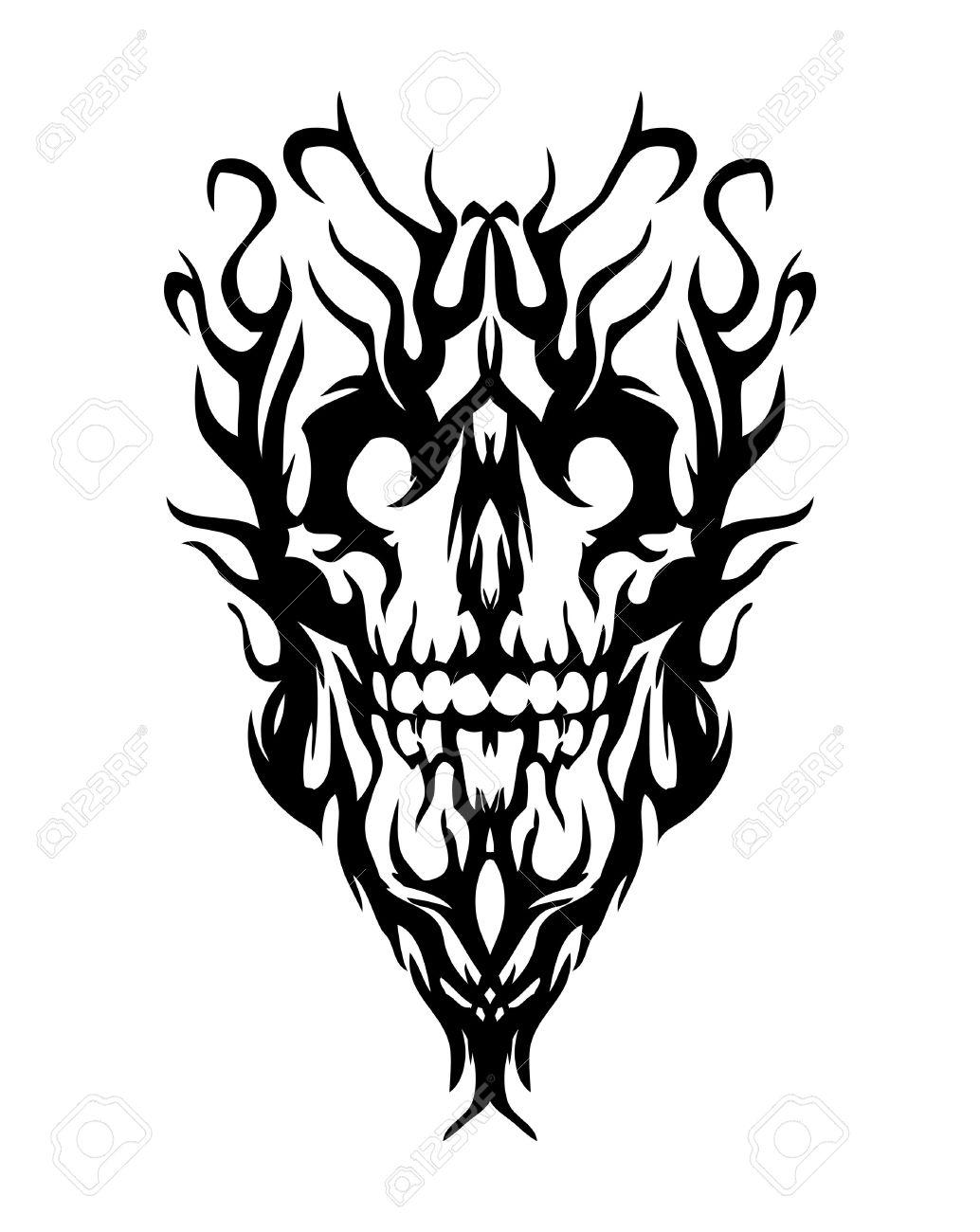 1034x1300 Amazing Evil Tattoo Designs