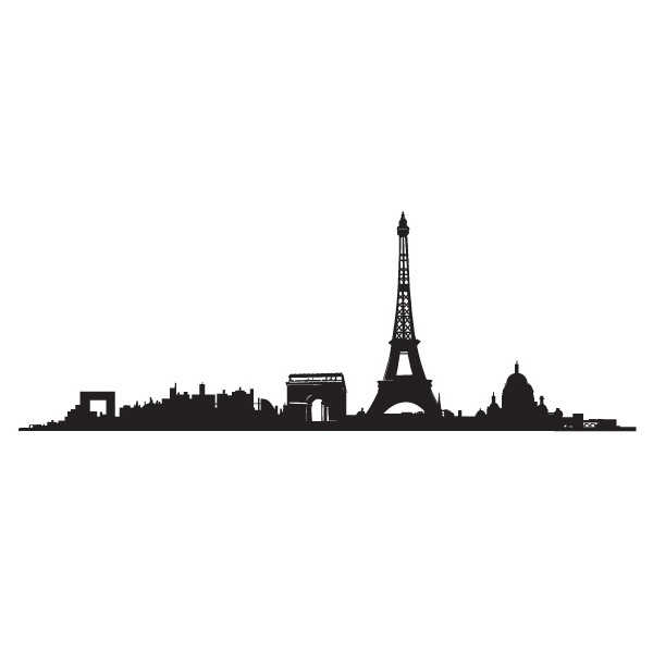 600x600 Paris Drawing Skyline For Free Download