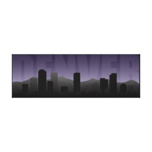 307x307 Denver Skyline Art Wall Zazzle
