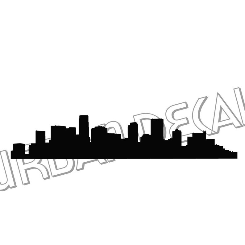 794x794 Denver Skyline Laptop Sticker Vinyl Decal For Car Window Etsy